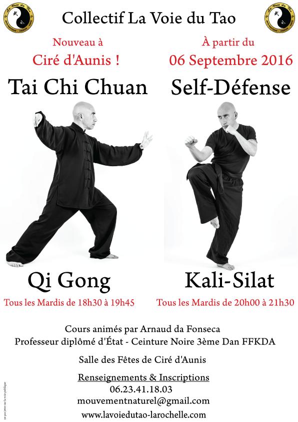 Nouveau!! Cours de Tai Chi Chuan et Self Défense, à Ciré d'Aunis, tous les mardis