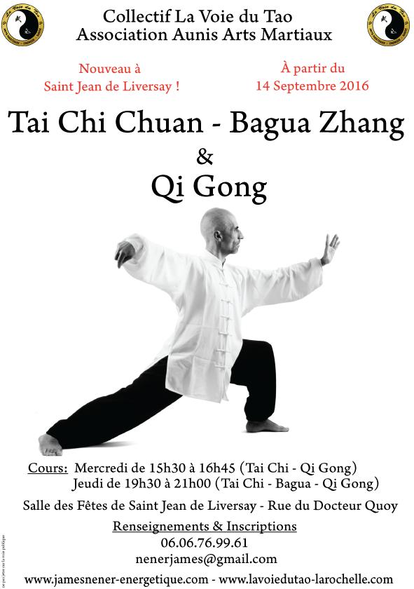 Nouveau à Saint Jean de Liversay! Cours de Tai Chi Chuan, Qi Gong et Bagua Zhang dès le 14 Septembre