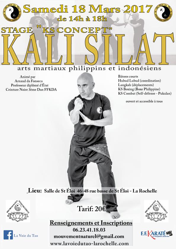 Stage de Kali Silat le samedi 18 mars de 14h à 18h à La Rochelle