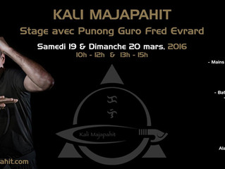 Stage les 19 et 20 Mars 2016