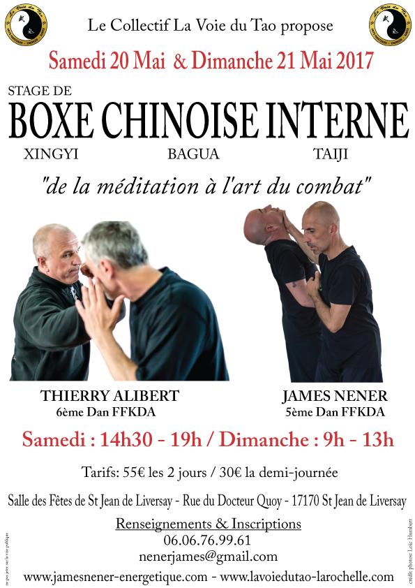 Stage de boxe chinoise interne à Saint Jean de Liversay, les 20 et 21 Mai 2017