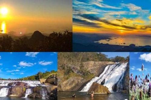 Pedra da Macela, Lavandário e Cachoeira do Pimenta