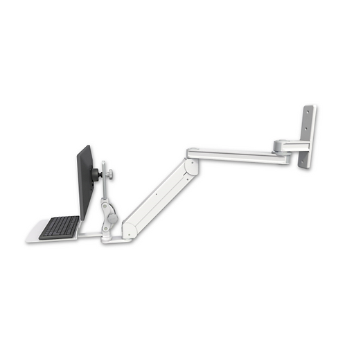 """ICW Titan Elite Paralink Wall Mount - 20"""" T2 Arm with a 12"""" Flat Keyboard Tray"""