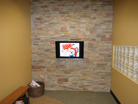 In Wall TV for Kids Waiting Room