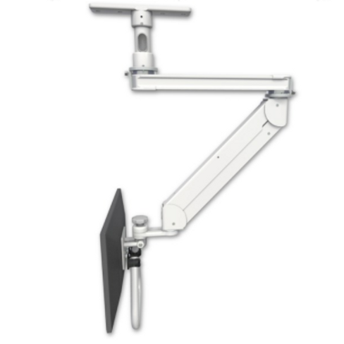 """ICW Titan Elite Ceiling LCD Stud Mount, ErgoVision With 20"""" T2 Arm, 5"""" Down Pole"""