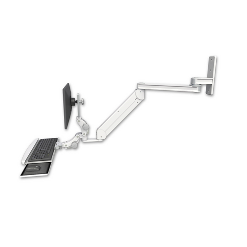 """ICW Titan Elite Paralink Wall Mount w/ 20"""" T2 arm With a Paralink Keyboard Tray"""