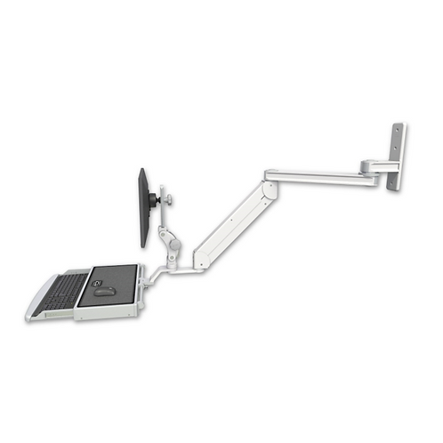 "ICW Titan Elite Paralink Wall Mount - 20"" T2 Arm With Work Surface Keyboard Tray"