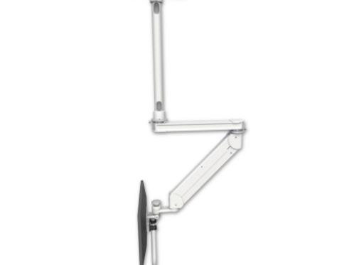 """ICW Titan Elite Ceiling LCD Stud Mount, ErgoVision With 20"""" T2 Arm 24"""" Down Pole"""