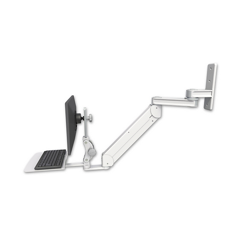 "ICW Titan Elite Paralink Wall Mount - 12"" T2 Arm with a 12"" Flat Keyboard Tray"