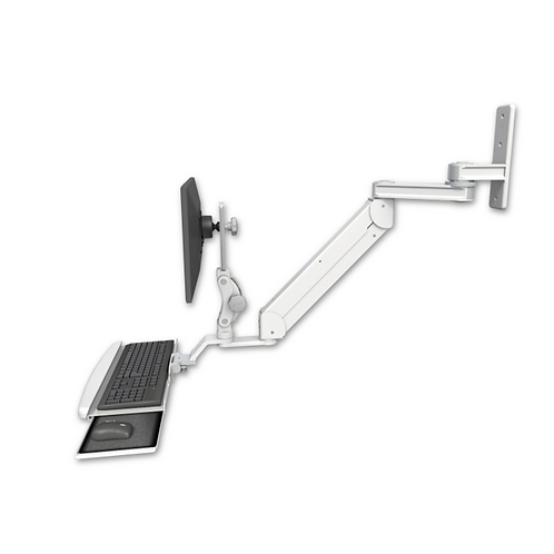 "ICW Titan Elite Paralink LCD Wall Mount - 12"" T2 arm - Bent Keyboard Tray"