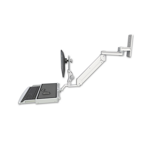 """ICW Titan Elite Paralink Wall Mount - 12"""" T2 Arm With Work Surface Keyboard Tray"""