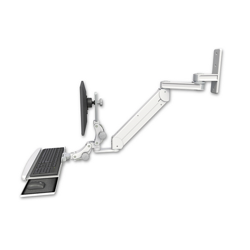 "ICW Titan Elite Paralink Wall Mount w/ 12"" T2 arm With a Paralink Keyboard Tray"
