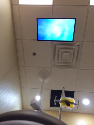 Overhead Mount For Patients to View When Reclining