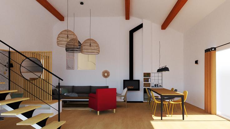 3D Vue globale séjour - Phase conception