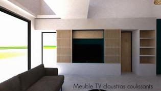 Meuble TV ouvert