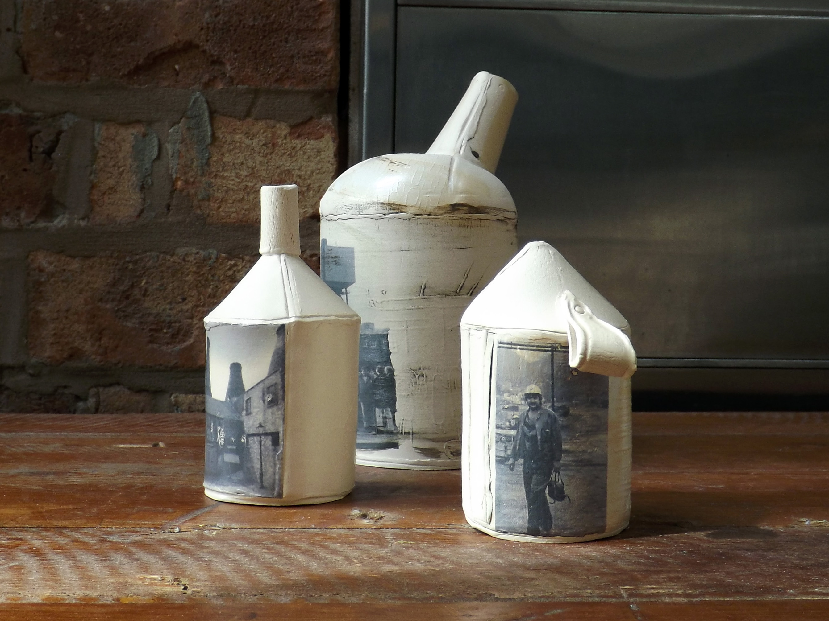3 Ceramic vessels Stoke-on-Trent