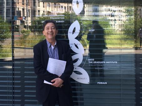 Visite du Cheikh Bentounes à la Maison de la Paix à Genève