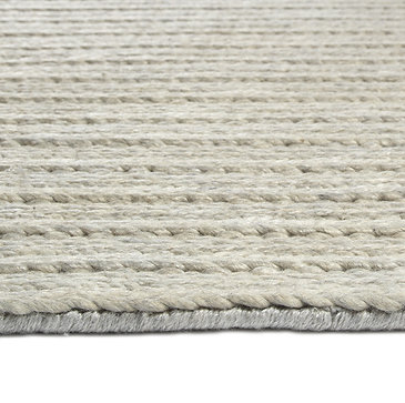 Line Weave Silver Ready-Made Rug