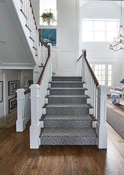 Picture of custom stair runner using style Destination from Anchor Rug Co.