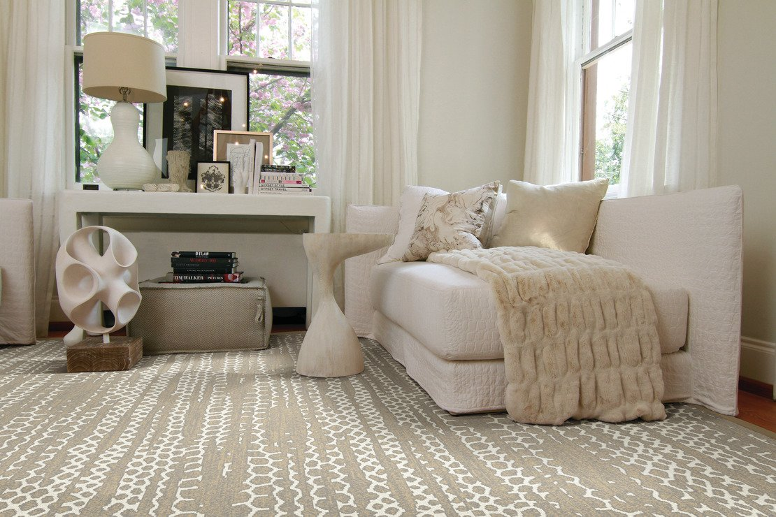Custom sized area rug style Tracks from Anchor Rug Co.
