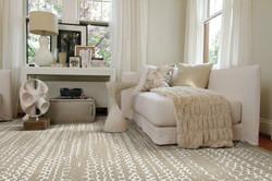 Custom sized area rug style Tracks from Anchor Rug Co.