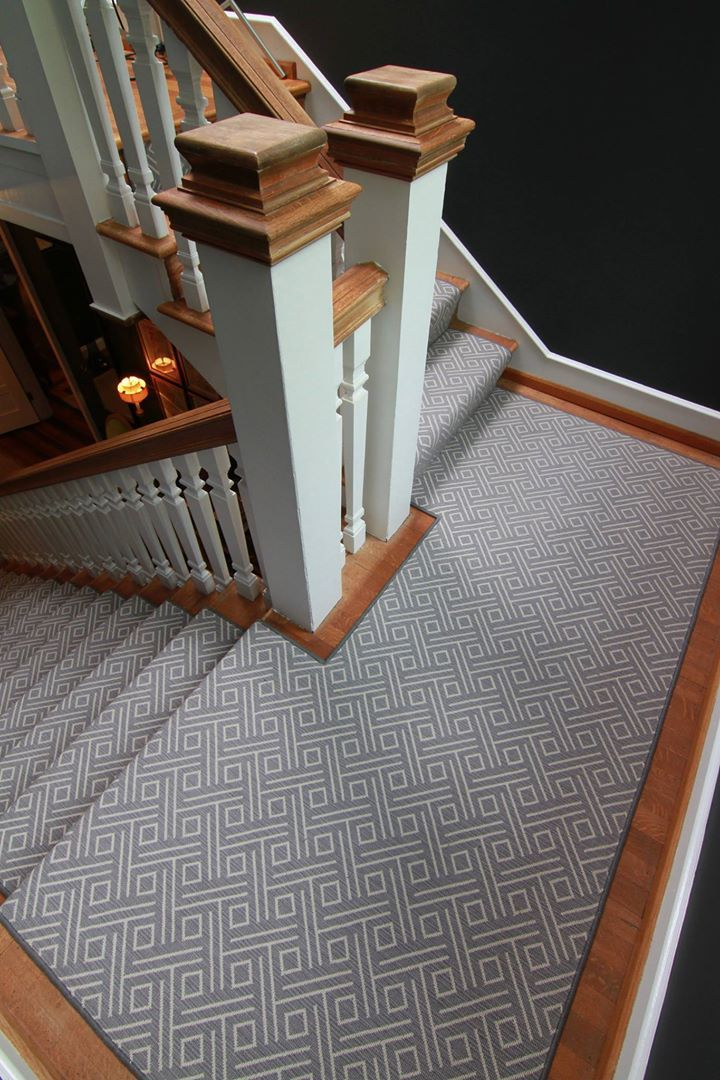 Picture of custom stair runner