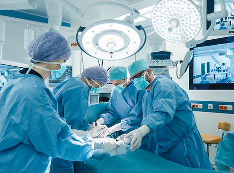 Medical Team Performing Surgical Operati