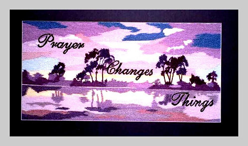 A1004 Prayer Changes Things  Size 10