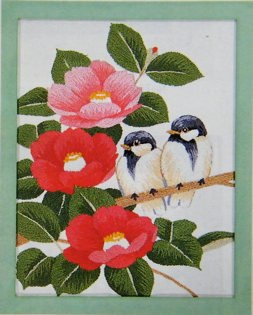 Kit 766 Camellias & Two Small Birds  Size 1