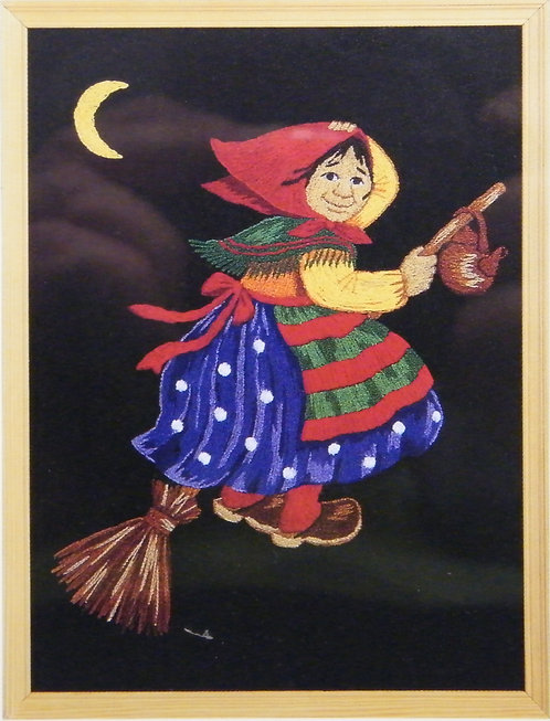 E403 Old lady on a Broom  Size 3