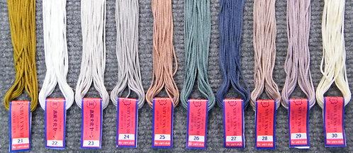 Bunka Yarn 21-30  5 Metre Skeins