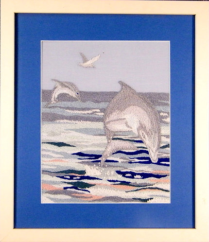 A127 Dolphins at Play  Size 1