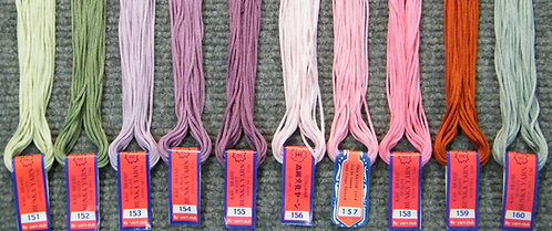 Rayon Yarn 151-160  5 metre Skein