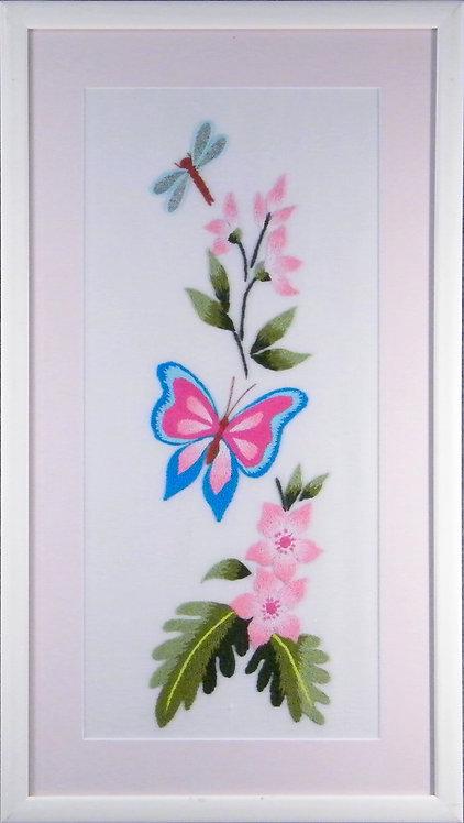 A1002 Butterfly & Flowers  Size 10