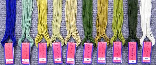 Bunka Yarn 51-60  5 Metre Skeins