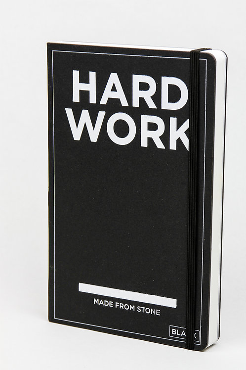 HARD WORK BOOK  -  Notizbuch aus Steinpapier - Blanko