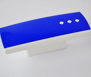 Bouton 3 point bleu