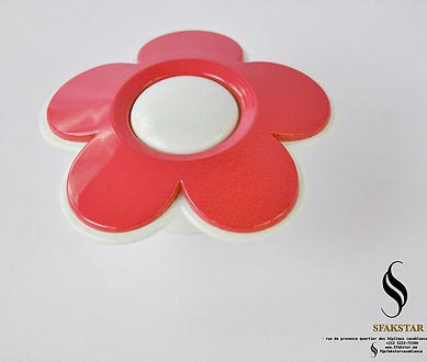 Bouton fleure rouge