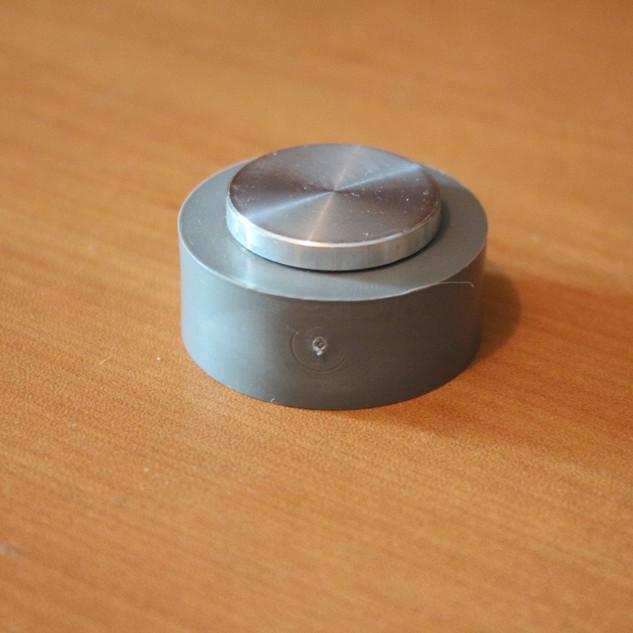 Arret de porte aluminum gris