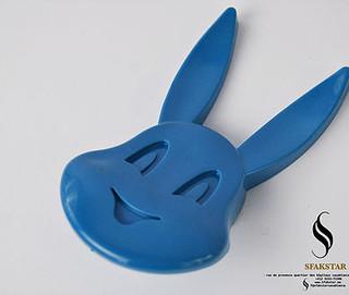 Bouton Arnoub bleu