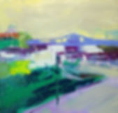 HarlemRiverBridgeSpring, Oil on Canvas,3