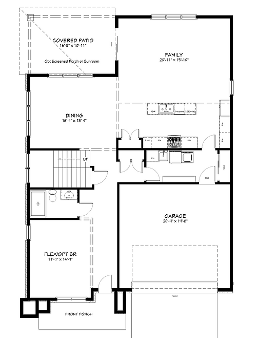 contemporary for floor plan only-Floor P