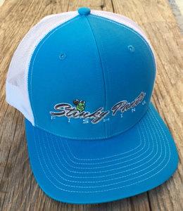 Cyan/White Name Hat