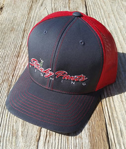 Grey/Red Name Hat