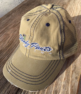 Khaki/Blue Unstructured Hat