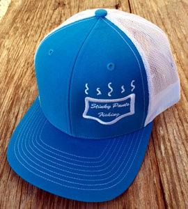 Cyan/White Logo Hat