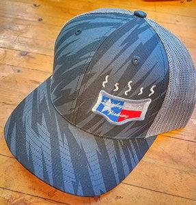 Black/Grey Stripes Logo Hat