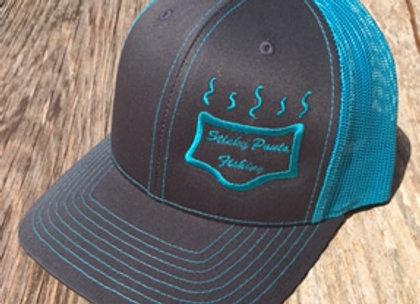 NeonBlue/Grey Logo Hat