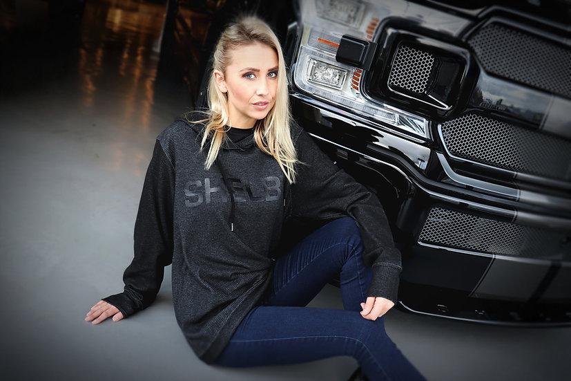Shelby Tonal Stripe Black Hoody