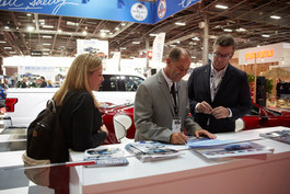 Gary Patterson & Aaron Shelby at the Paris Motor Show 2018 with Shelby Europe